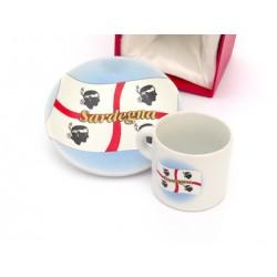 Set da café Sardegna bandiera