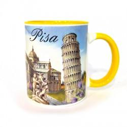 Mug in ceramica di Pisa colore giallo