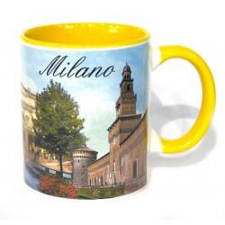 Mug da souvenir in ceramica Multiveduta di Milano
