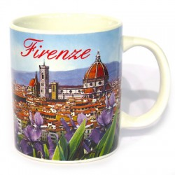 Tazza in ceramica panorama di Firenze