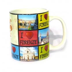 Tazza in ceramica Multiveduta colorato Firenze