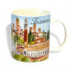 Tazza in ceramica Toscana multiveduta