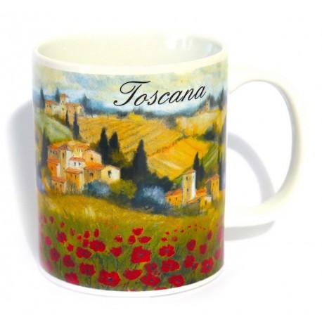 Tazza in ceramica Toscana Papaveri