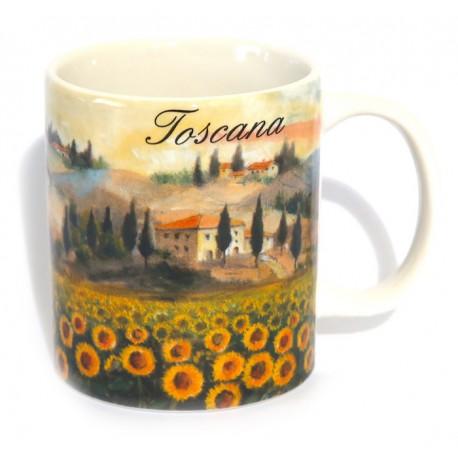 Tazza in ceramica Toscana Girasoli