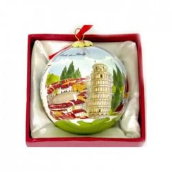 Palla natalizia grande monumenti toscani