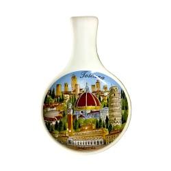 Posamestolo in ceramica Multiveduta toscana