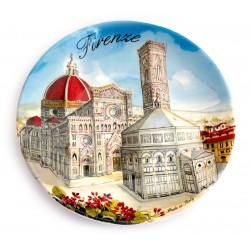 Piatto ø20 cm fi25 Piazza Duomo di Firenze