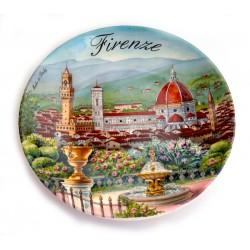 Piatto ø20 cm FI27 Panorama di Firenze