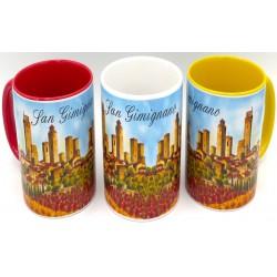Mug in ceramica di San gimignano con girasoli