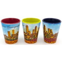 Bicchierino colorato di San gimignano girasoli