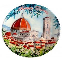 Piatti da souvenir con il duomo di Firenze FI32