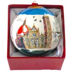Pallina di natale da souvenir con il Duomo di Firenze