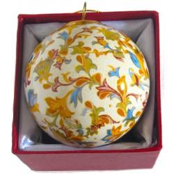 Pallina di natale da souvenir stile carta fiorentina