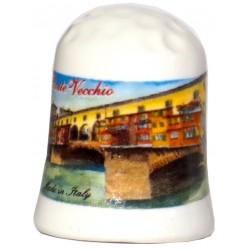 Ditale da souvenir con il Ponte vecchio di Firenze FI33