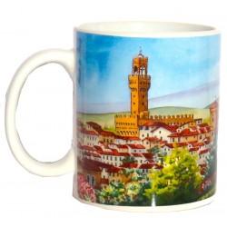 Tazza da souvenir con il panorama di Firenze FI29