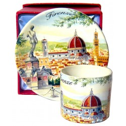 Set caffè da souvenir con il piazzale michelangelo FI17
