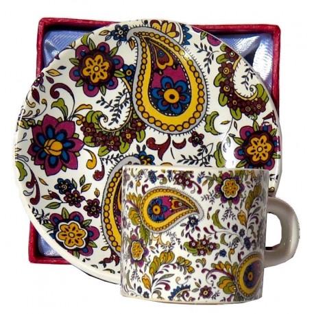 Set caffè da souvenir stile cachemire