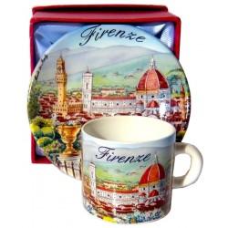 Set caffé da souvenir di Firenze FI27