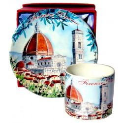 Set da caffé da souvenir con il Duomo FI32