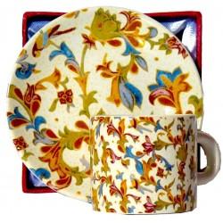 Set da caffé da souvenir stile carta fiorentina