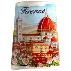 Souvenir magnetico tegolina con il Duomo FI24