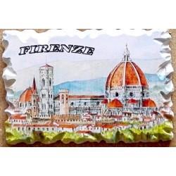 Marmino magnetico con il panorama di Firenze