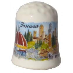 Ditale in ceramica con i monumenti della Toscana TS3