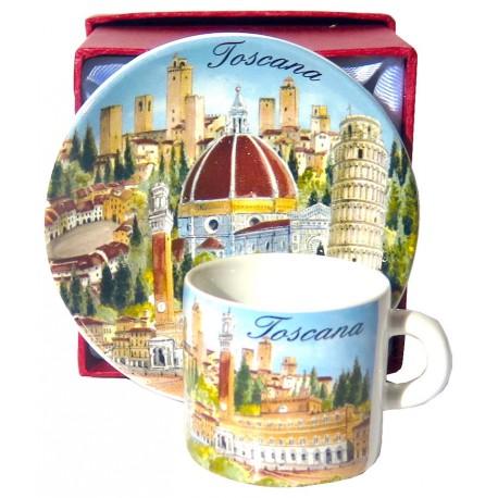 Set da caffé da souvenir della Toscana TS3