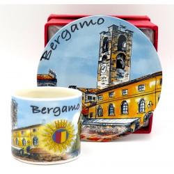 Set caffè  da souvenir con Bergamo
