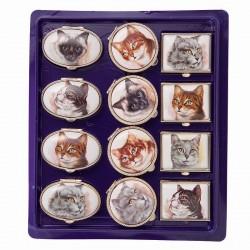 Portapillole medie Teste di gatti
